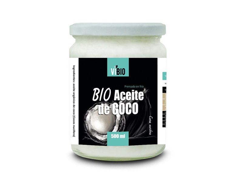 Bio Aceite de Coco 500ml Virgen Extra - prensado en frío, 1 ud