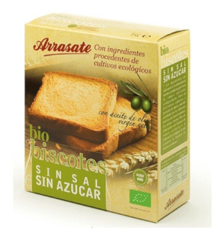 Bio Biscotes sin sal, 270 gr