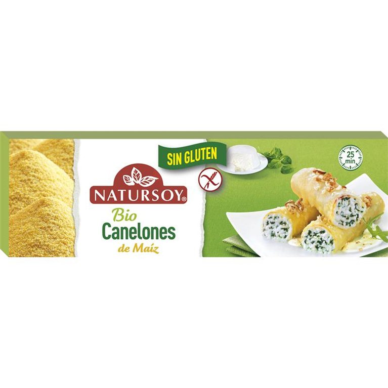 Bio Canelones de Maíz, 250 gr