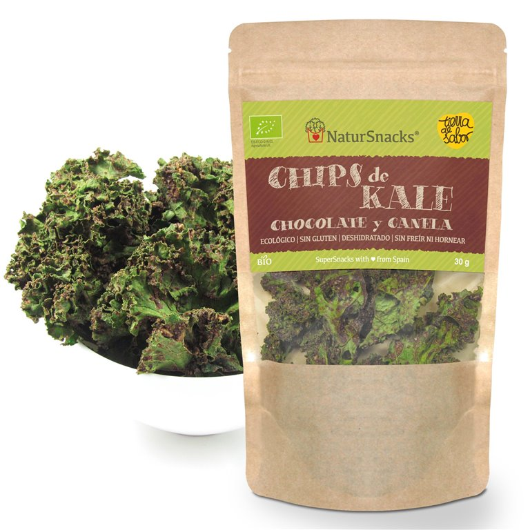 BIO Chips de Kale - Chocolate & Canela