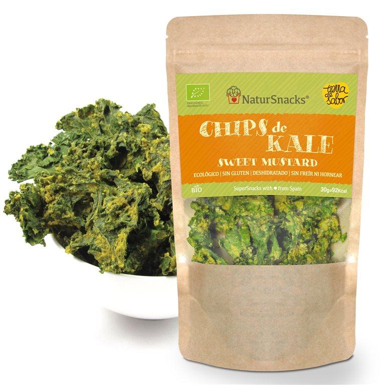 BIO Chips de Kale - Sweet Mustard (mostaza con miel)
