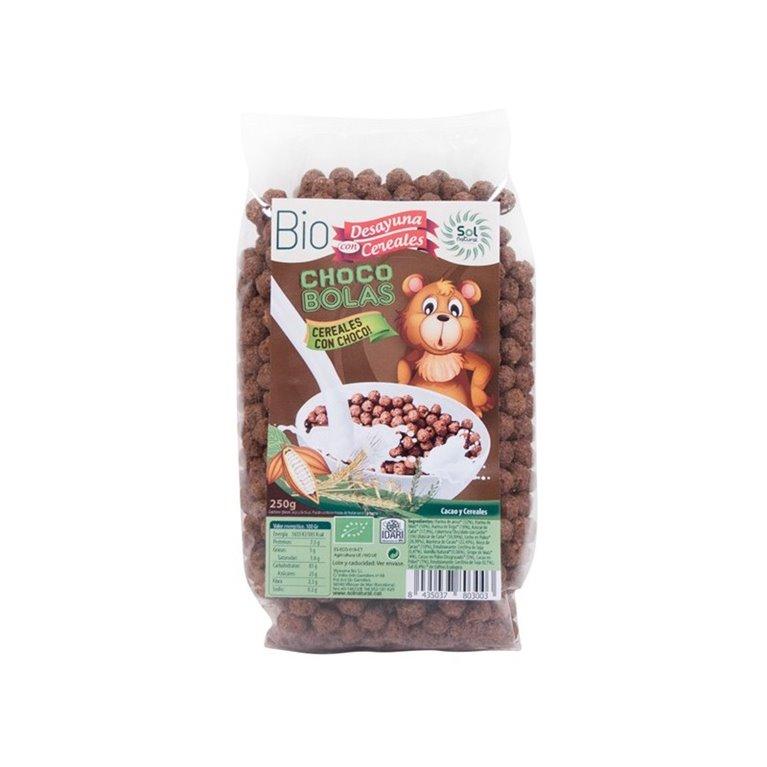 Bio choco bolas cereales con cacao