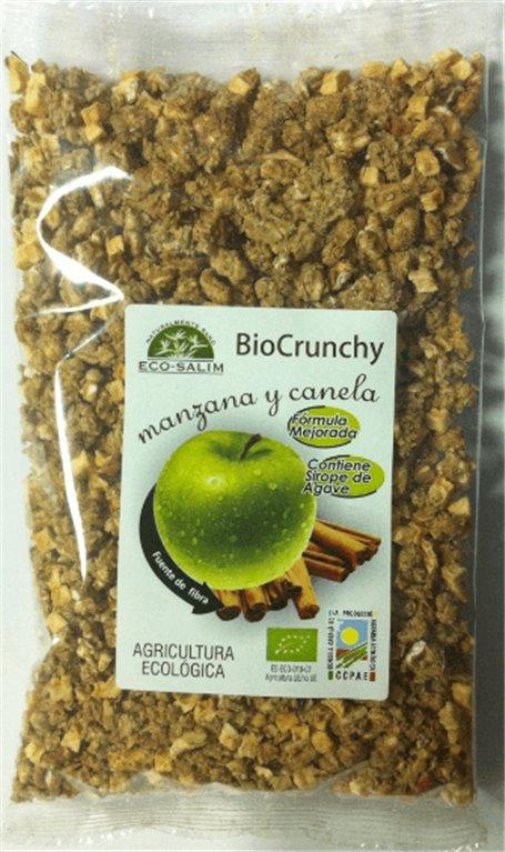 Bio Crunchy manzana y canela, 250 gr