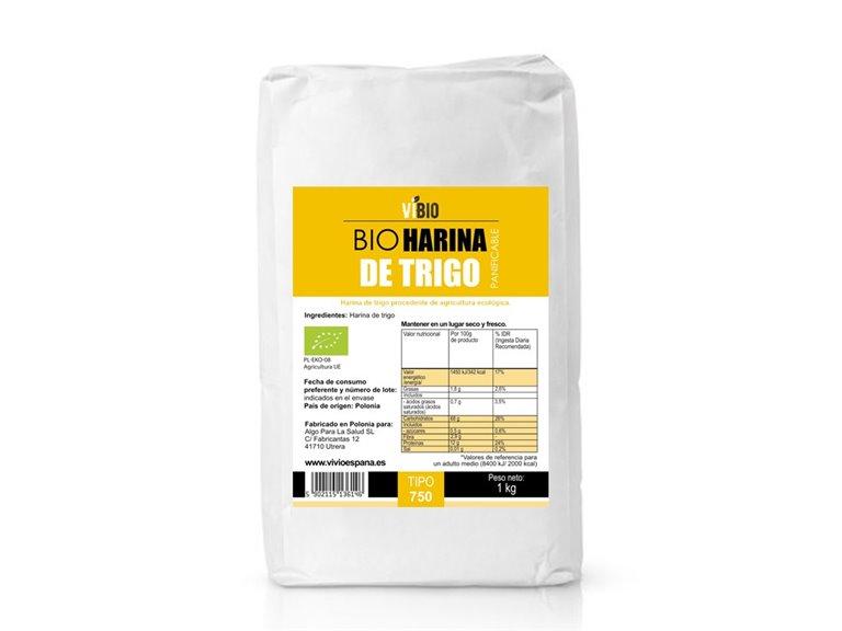 BIO Harina de trigo (panificable) 1kg