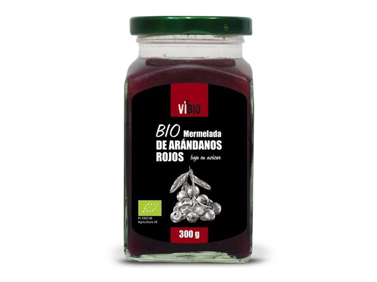BIO Mermelada de arándanos rojos (baja en azúcar) 300g, 1 ud