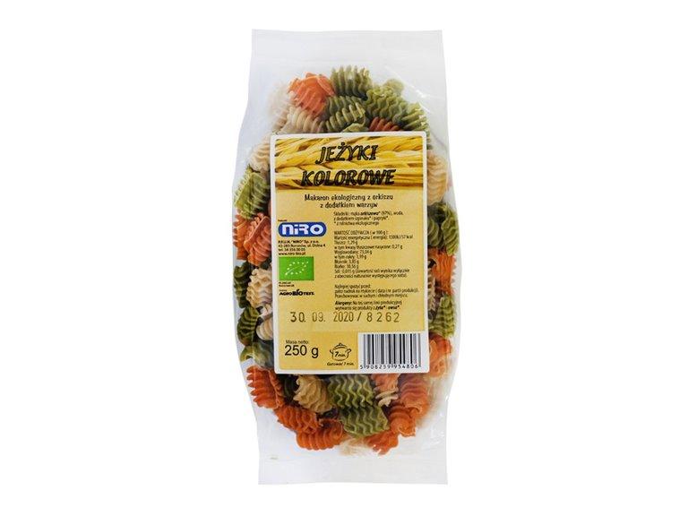 BIO Pasta tricolor de espelta con verduras 250g