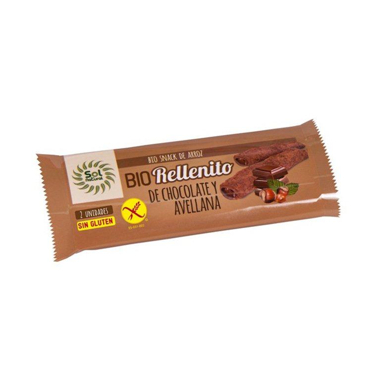 BIO rellenito de chocolate y avellana, 25 gr