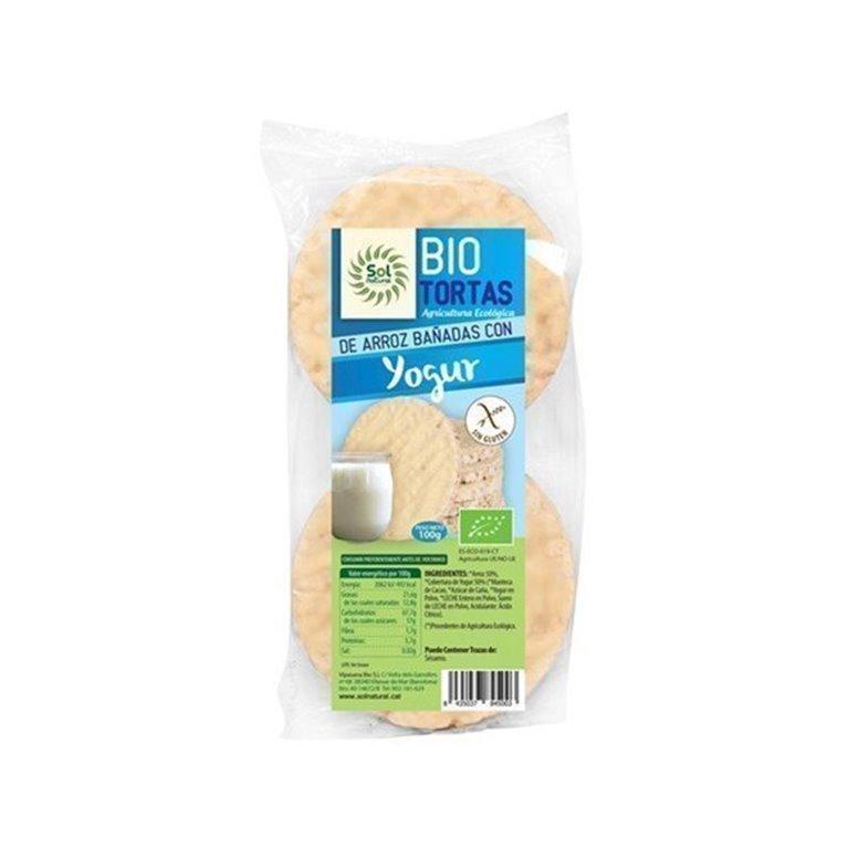 Bio tortas de arroz bañadas con yogur 100g