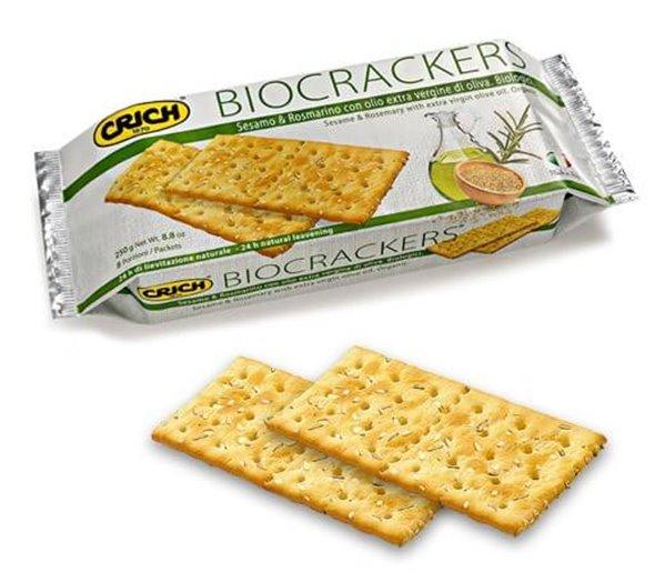 Biocracker de sésamo y romero
