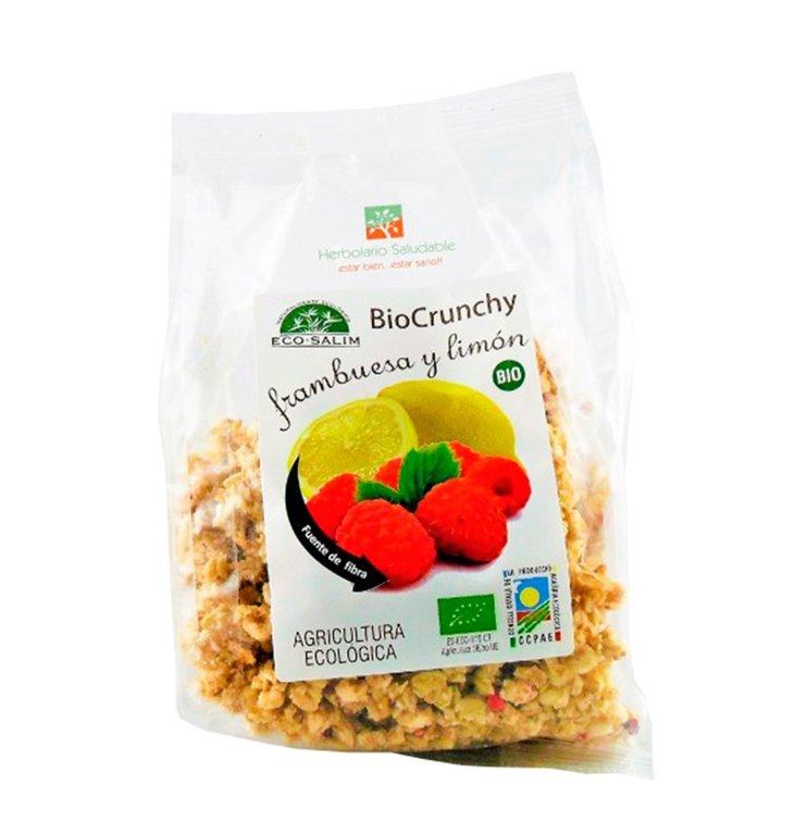 BioCrunchy con Frambuesa y Limón Bio 250g