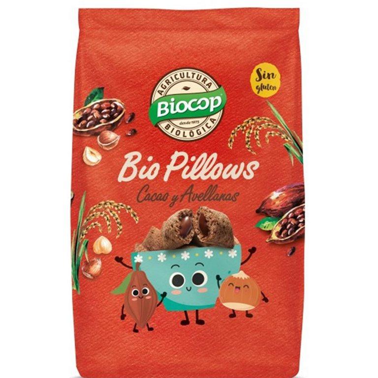 Biopillows Cacao Avellanas Sin Gluten Bio 375g