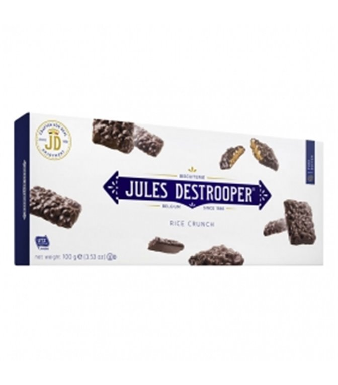 Crispy Rice Biscuits coated with Chocolate 100gr. Jules Destrooper. 12un.