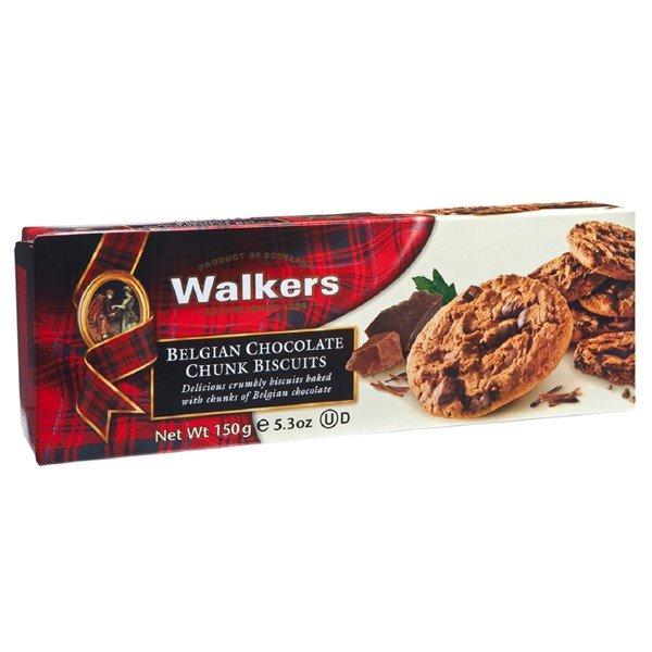 Biscuits con Trozos de Chocolate Belga 150gr. Walkers. 12un.