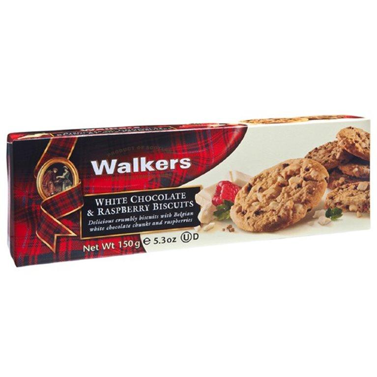 Biscuits con Trozos de Chocolate Blanco y Frambuesa 150gr. Walkers. 12un., 1 ud