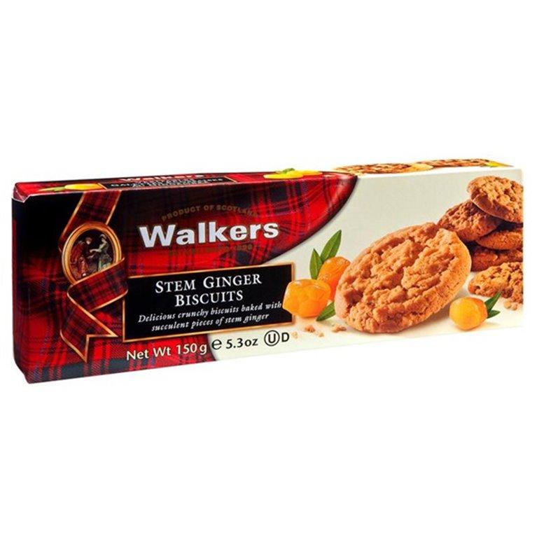 Biscuits con Trozos de Jengibre 150gr. Walkers. 12un., 1 ud
