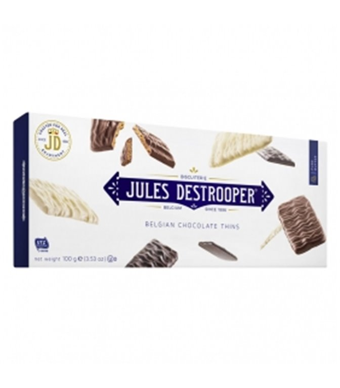 Cande Sugar Biscuits coated with Chocolate 100gr. Jules Destrooper. 12un.