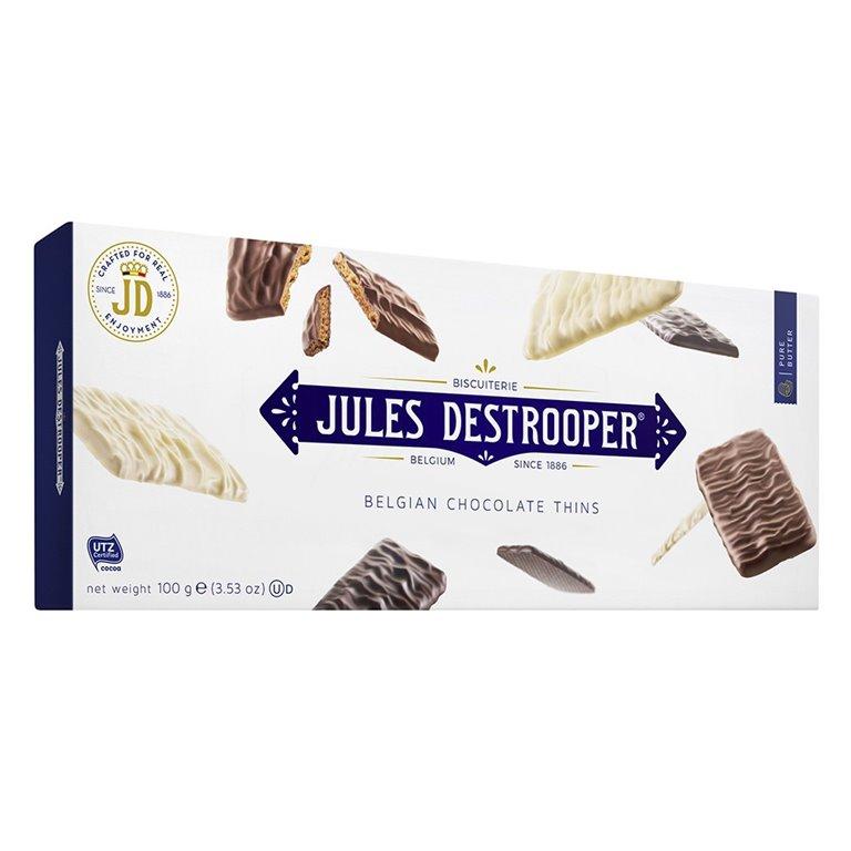 Biscuits de Azúcar Cande recubiertos de Chocolate 100gr. Jules Destrooper. 12un., 1 ud