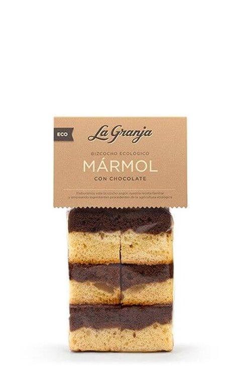 Bizcocho mármol con chocolate - La granja