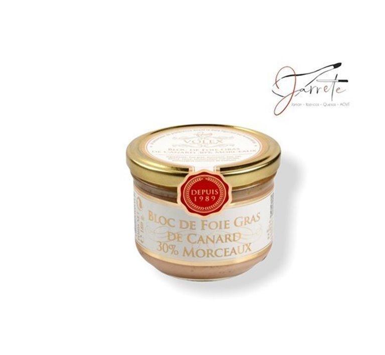 Bloc de Foie Gras 30% trozos - Tarro, 125 gr
