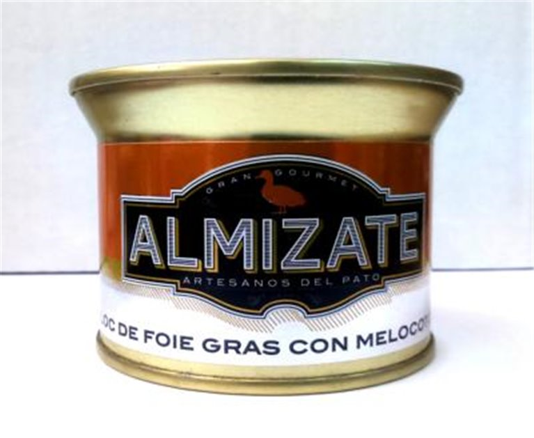 Bloc de Foie Gras con melocotón Almizate, 1 ud
