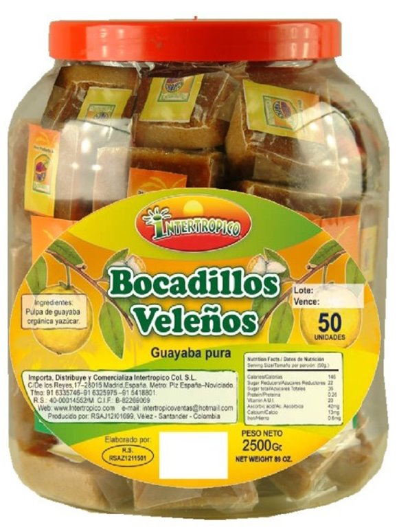 BOCADILLO DE GUAYABA PIMPINA  X 50UND