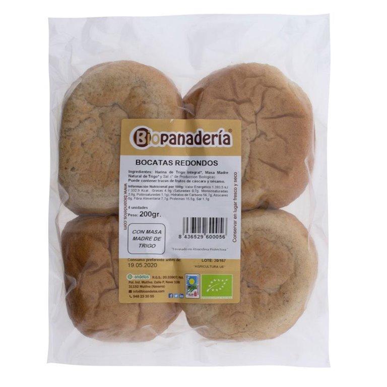 Bocatas de Pan Redondos para Hamburguesa o Bocadillos Ecológicos 4uds, 1 ud