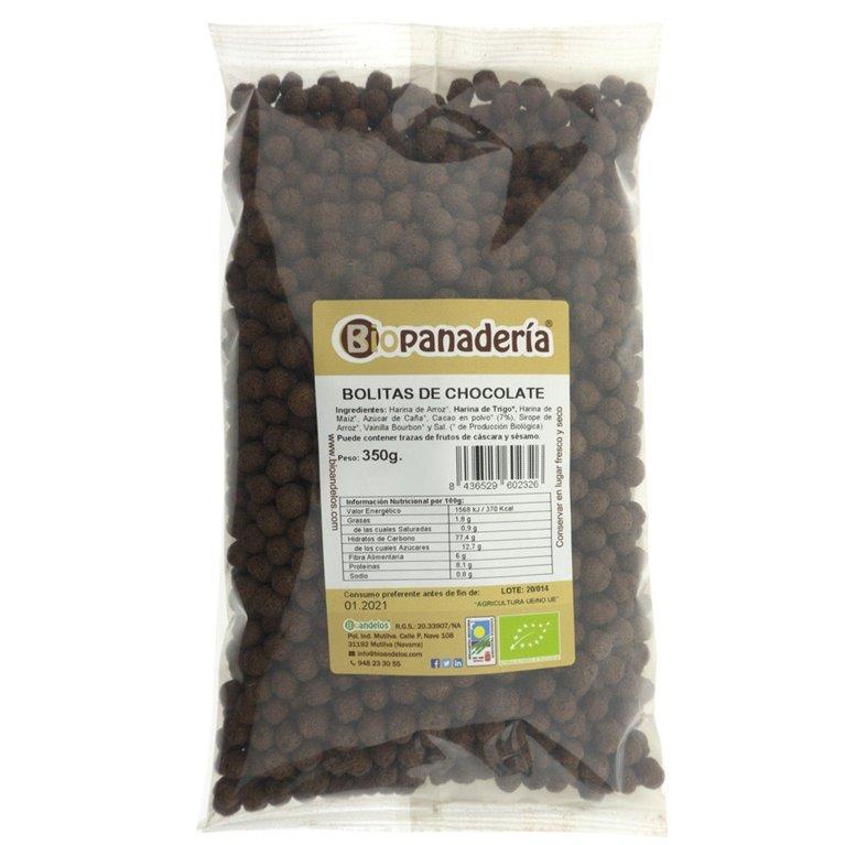 Bolitas de Chocolate Crujientes Ecológicas 350g, 1 ud