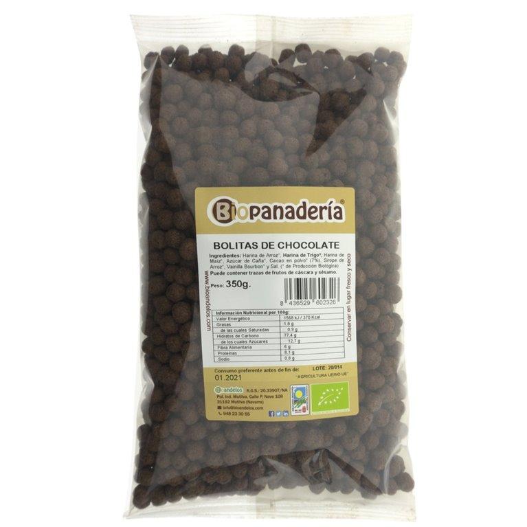 Bolitas de Chocolate Crujientes Ecológicas, 1 ud