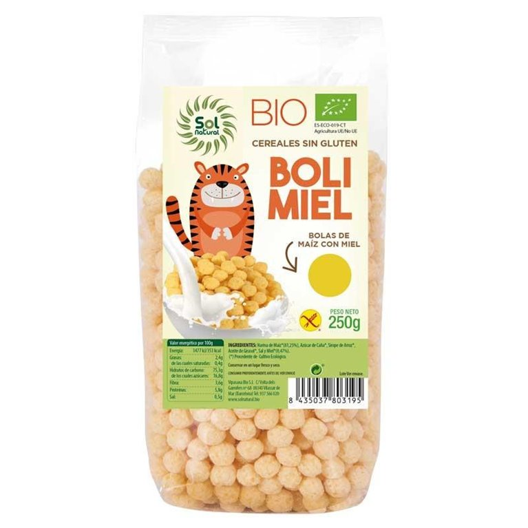 Bolitas de Miel Sin Gluten Bio 250g