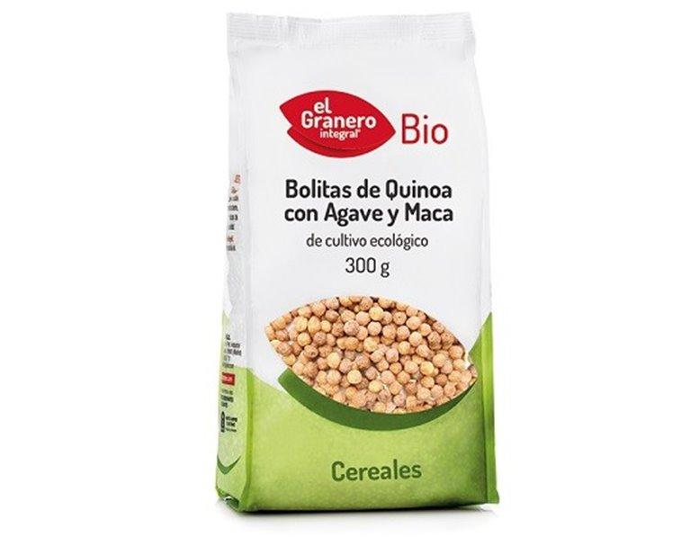 Bolitas de Quinoa Con Agave y Maca Bio 300g