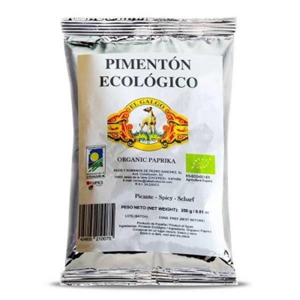 Bolsas de pimentón ecológico de 1kg.