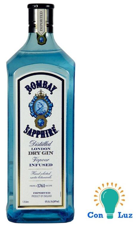 Bombay Sapphire 1,75 Litros con luz, 1 ud