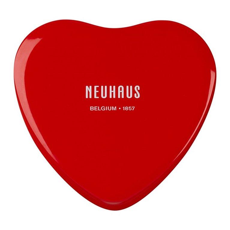 Bombones belgas en caja metálica con forma de corazón, 1 ud