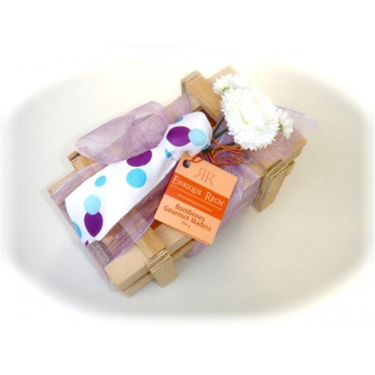 Bombones Gourmet Papi's Edition Caja Madera 250g