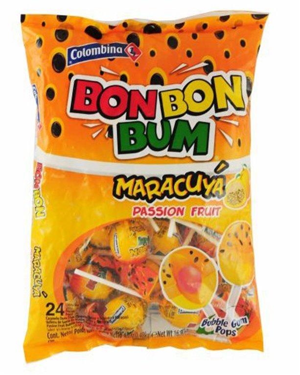 BON BON BUM DE MARACUYA X 480GRS