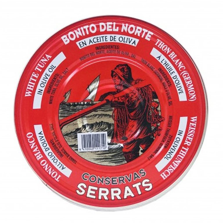 Bonito del Norte en Aceite de Oliva 1800gr. Serrats. 4un., 1 ud