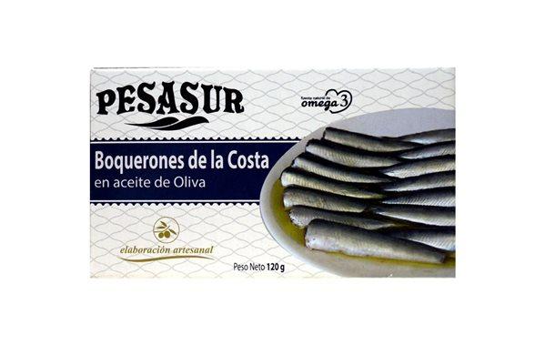 Boquerones de la Costa en aceite de oliva Pesasur