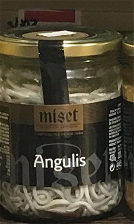 Bote angulas marca Miset, 1 ud