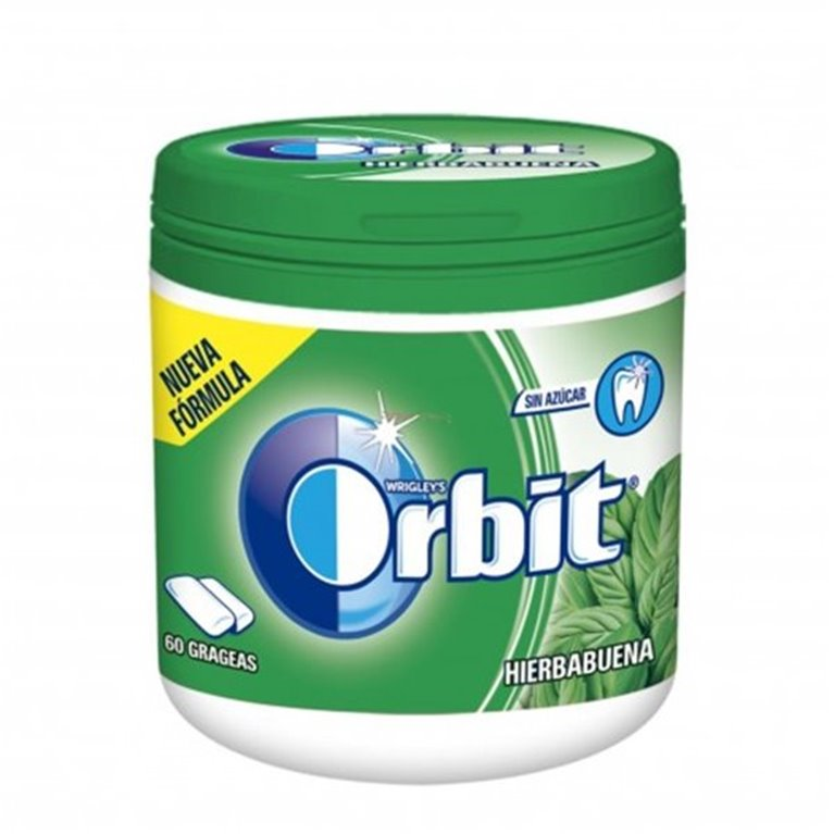 Bote chicles Orbit Hierbabuena (84 gramos)