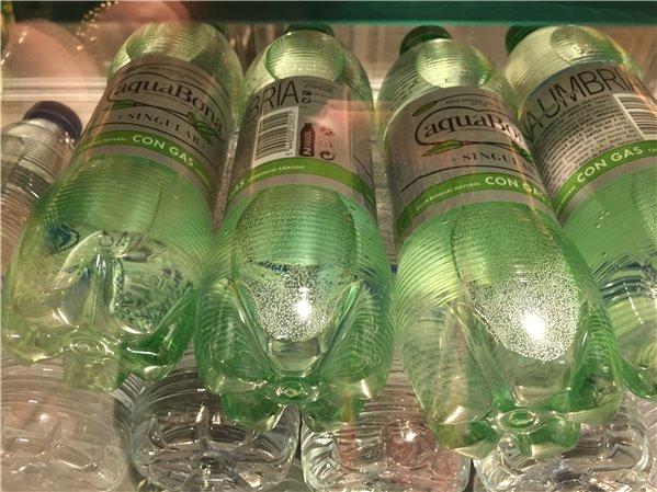 Botella de agua con gas aquaBona