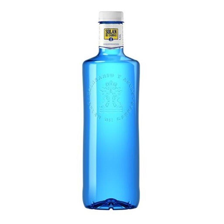 Botella de agua Solán de Cabras
