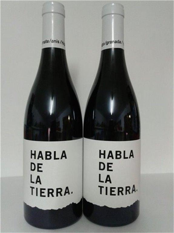 Botella de vino tinto tempranillo Habla de la Tierra, 0,75 l