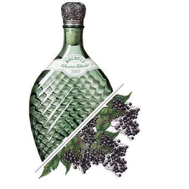 Brandy de Sauco Negro Schwarzer Holunder, 2005 52%vol. 0,35L, Rochelt