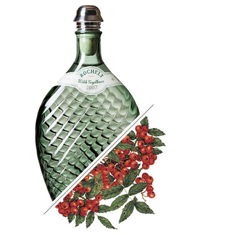 Brandy de Serbal de los Cazadores, Wilde Vogelbeere, 2007, 52% vol. 0,35L, Rochelt
