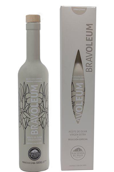 Bravoleum. AOVE Arbequina. Estuche con Botella de 500 ml.