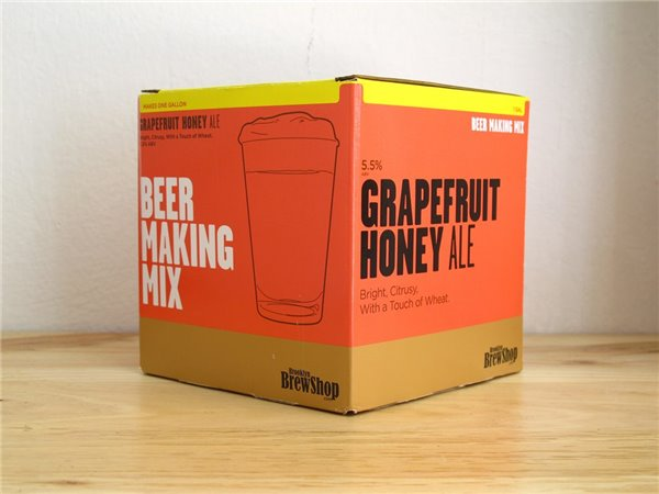 Brooklyn BrewShop Beer Making Mix – Grapefruit Honey Ale