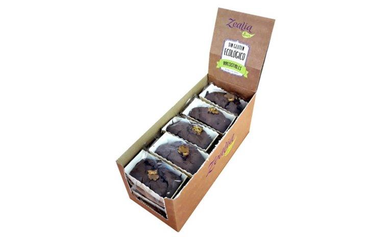 Brownie chocolate nueces sin gluten, 70 gr