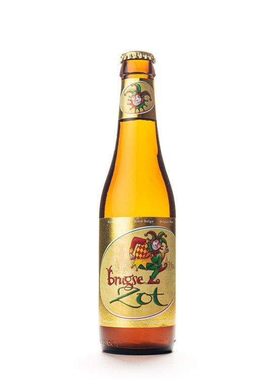 Brugse Zot Blond. Cerveza belga de importación.
