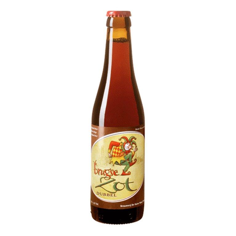 Brugse Zot Dubbel. Cerveza belga de importación.