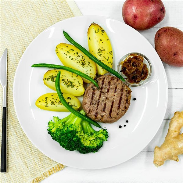 Burger de ternera premium con patata asada